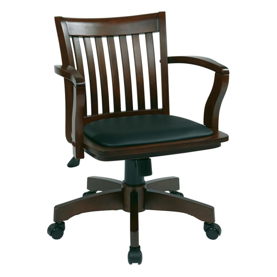 Beau Office Star Deluxe Wood Bankers Chair With Padded Seat BlackEspresso By  Office Depot U0026 OfficeMax