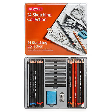 Derwent Sketching Pencil Collection, Set Of 24