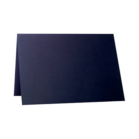 """LUX Folded Cards, A2, 4 1/4"""" x 5 1/2"""", Black Satin, Pack Of 50"""
