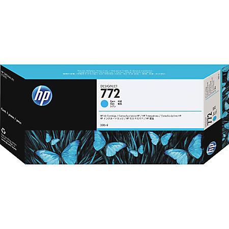 HP 772 Original Ink Cartridge - Single Pack - Inkjet - Cyan - 1 Each