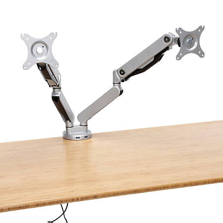 OFM Ergonomic Double Monitor Arm, Silver