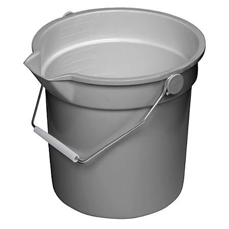 Continental Huskee® Buckets, 14 Quart, Gray