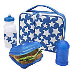 Smash 4-Piece Lunch Kit, White Stars