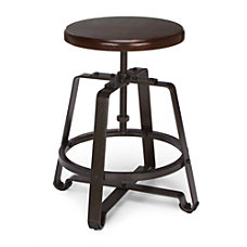 OFM Endure Series Small Stool WalnutDark