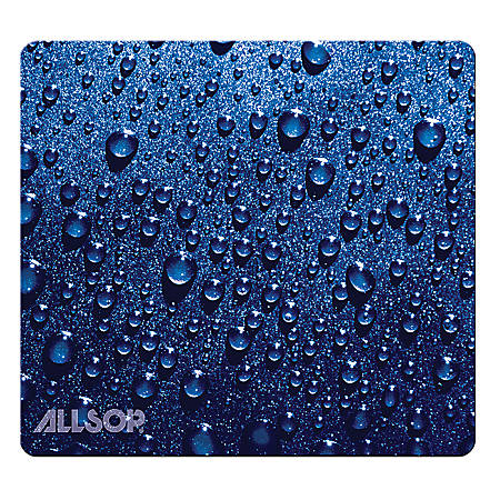 "Allsop® Naturesmart Mouse Pad, 8.5"" x 8"", Blue Raindrop"