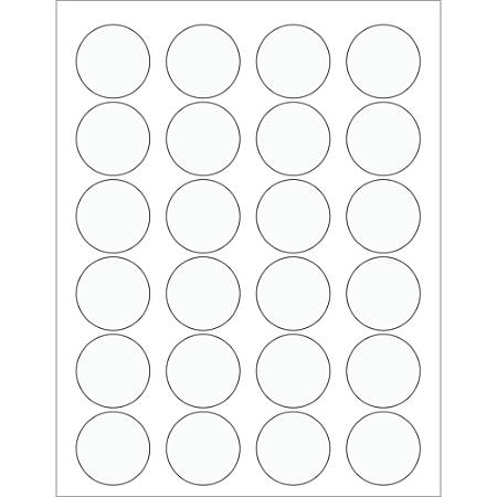 Office Depot Brand Circle Laser Labels LL231CL 1 58 Clear