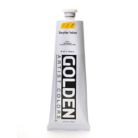 Golden Heavy Body Acrylic Paint, 5 Oz, Diarylide Yellow