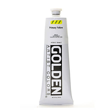 Golden Heavy Body Acrylic Paint, 5 Oz, Primary Yellow