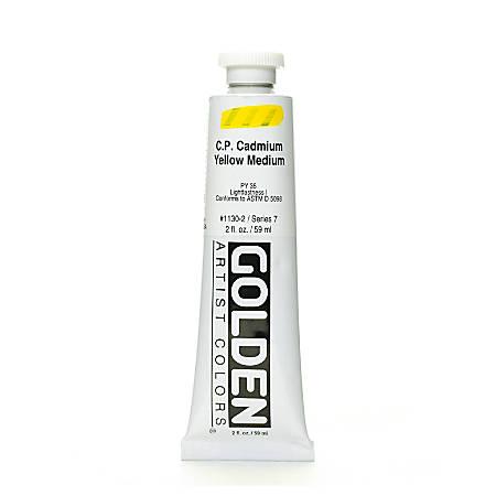 Golden Heavy Body Acrylic Paint, 2 Oz, Cadmium Yellow Medium (CP)