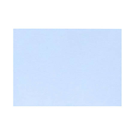 "LUX Flat Cards, A2, 4 1/4"" x 5 1/2"", Baby Blue, Pack Of 50"