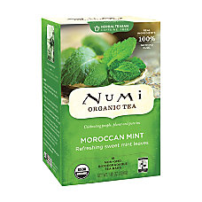 Numi Morroccan Mint Herbal Tea Box