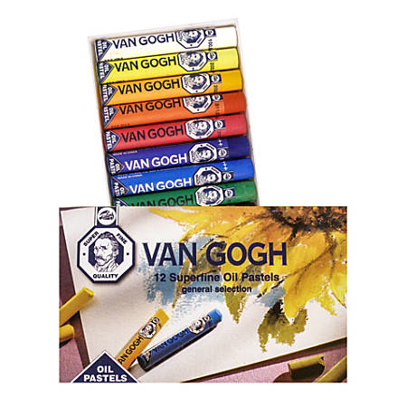 "Van Gogh Superfine Oil Pastels, 2 3/4"", Assorted, Set Of 12"