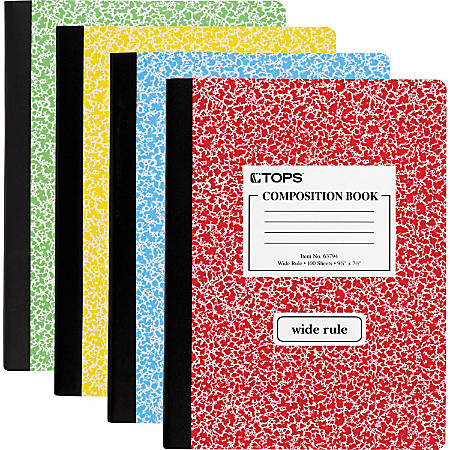 "TOPS® Composition Book, 7 1/2"" x 9 3/4"", 100 Sheets"