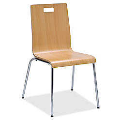 Lorell Bentwood Cafe Chair Steel Frame