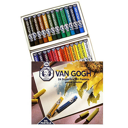 "Van Gogh Superfine Oil Pastels, 2 3/4"", Assorted, Set Of 24"