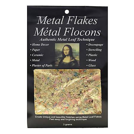 Mona Lisa Metal Flakes, 3 Grams, Variegated