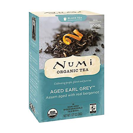 Numi Organic Aged Earl Gray Black Tea, Box Of 18