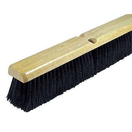 Wilen Black Tampico Push Broom, 18""