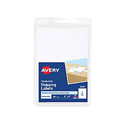 Avery Permanent Shipping Labels with TrueBlock