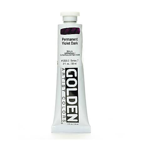 Golden Heavy Body Acrylic Paint, 2 Oz, Permanent Violet Dark