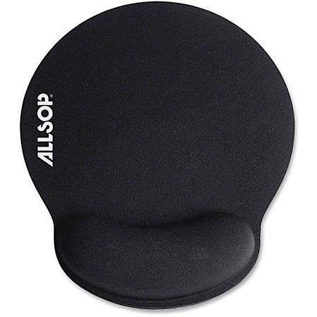 "Allsop® Memory Foam Mouse Pad, 0.25""H x 9.75""W x 11.5""D, Black"