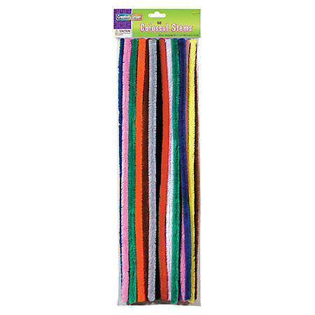 "Creativity Street Colossal Stems - 19.5"" x 0.6"" - 50 / Pack - Assorted"