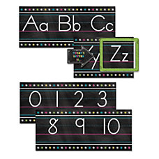 Teacher Created Resources Chalkboard Brights Alphabet