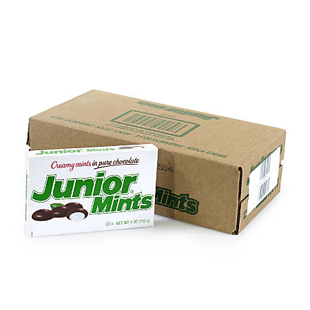 Junior Mints Theater Boxes, 4 Oz, Pack Of 12