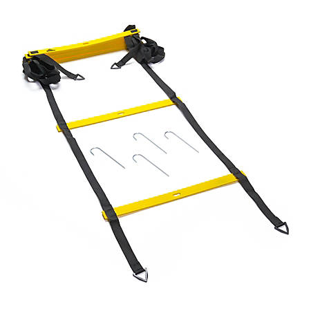 Black Mountain Products Foldable Agility Ladder With Carry Bag, 13', Black/Yellow