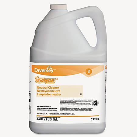 Diversey™ Stride® Neutral Cleaner, Citrus Scent, 128 Oz, Pack Of 4 Bottles