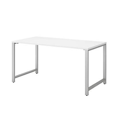 "Bush Business Furniture 400 Series Table Desk, 60""W x 30""D, White, Premium Installation"