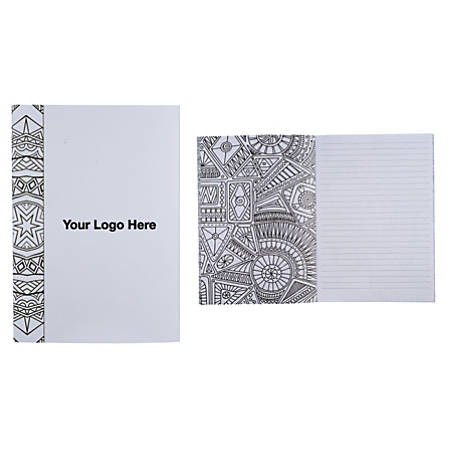 """Doodle Color Therapy Notebook, 8 3/8""""H x 5 3/8"""" x 7 3/8""""D"""