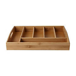 Mind Reader Serve 6 Compartment Bamboo