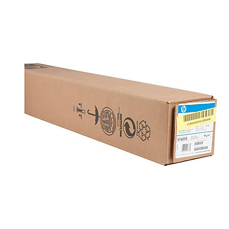 """HP Large-Format Film Roll, 24"""" x 150', 4.3 mil, White"""