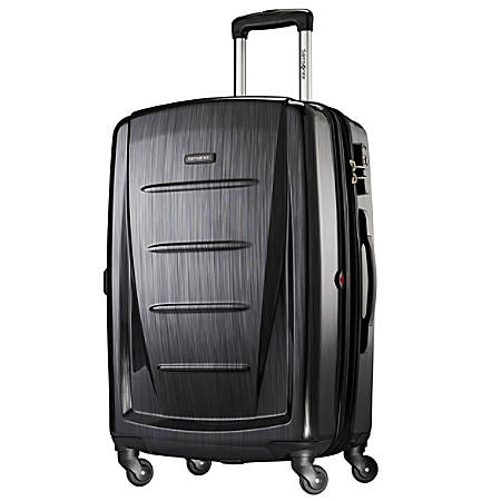 """Samsonite® Winfield 2 Polycarbonate Rolling Spinner, 28""""H x 19""""W x 12""""D, Brushed Anthracite"""