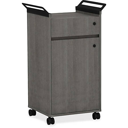 Lorell® Mobile Storage Cabinet with Drawer, Weathered Charcoal