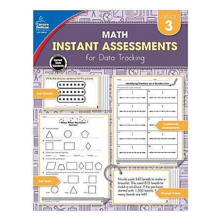 Carson-Dellosa Instant Assessments For Data Tracking Math Resource Book, Grade 3