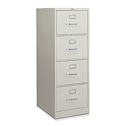 Hon H320 Series 26 12 D Vertical 4 Drawer Legal File Cabinet Putty