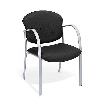 OFM Danbelle Series Contract Reception Chair, Ebony/Silver
