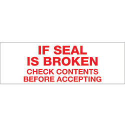 Tape Logic If Seal Is Broken