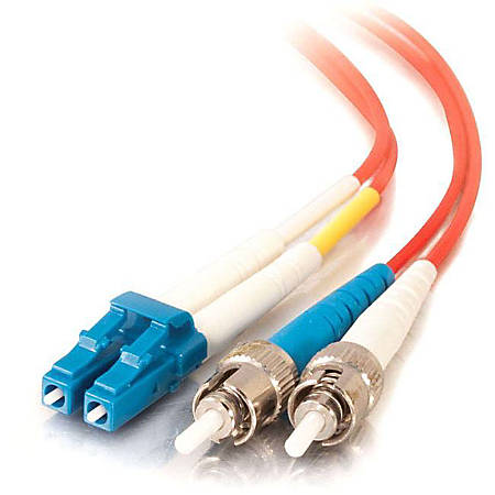 C2G-10m LC-ST 9/125 OS1 Duplex Singlemode Fiber Optic Cable (Plenum-Rated) - Red
