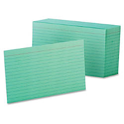 Oxford Color Index Cards Ruled 4