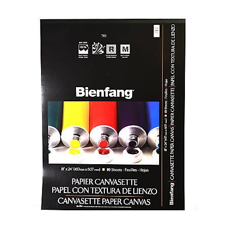 "Bienfang Canvasette Paper Canvas, 18"" x 24"", 10 Sheets Per Pad"