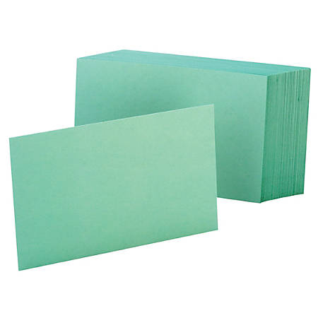 """Oxford® Color Index Cards, Unruled, 4"""" x 6"""", Green, Pack Of 100"""