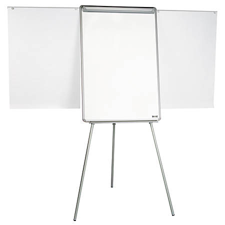 MasterVision Easy Clean Dry Erase Tripod Easel, Black/Silver
