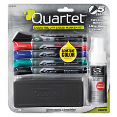 Quartet EnduraGlide Dry Erase Markers Kit