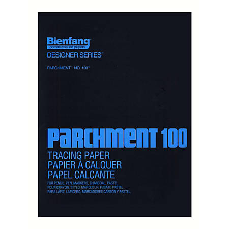 "Bienfang Parchment 100 Tracing Paper, 14"" x 17"", Pad Of 100 Sheets"