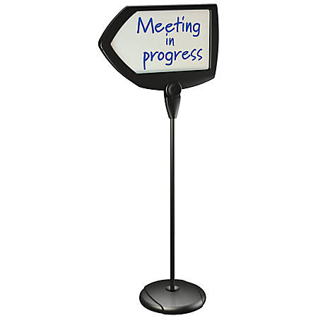 "MasterVision® Arrow Easy-Clean Dry-Erase Sign Stand, 17"" x 25"", Silver/Black"