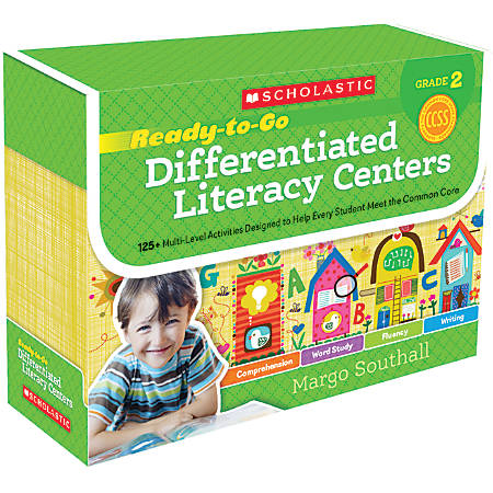Scholastic Ready-To-Go Differentiated Literacy Centers, Grade 2