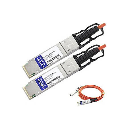 AddOn MSA and TAA Compliant 40GBase-AOC QSFP+ to QSFP+ Direct Attach Cable (850nm, MMF, 4m)